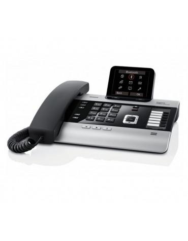 gigaset Téléphone filaire noir/silver avec répondeur gigaset