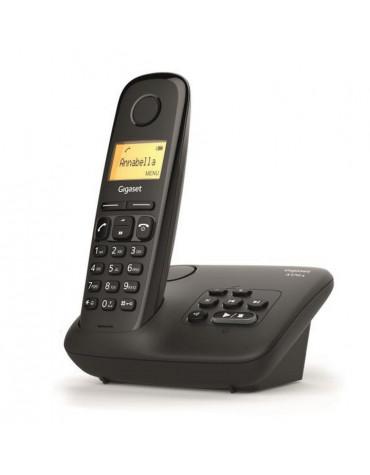 gigaset Téléphone sans fil dect noir avec répondeur gigaset