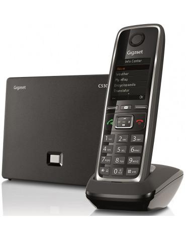 gigaset Téléphone sans fil dect noir voip et/ou analogique gigaset