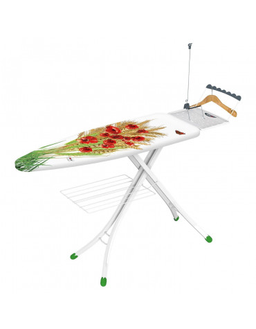 gimi Table à repasser avec housse coton 126x45cm gimi