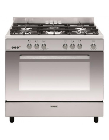 Piano de cuisson gaz 109l 5 feux inox