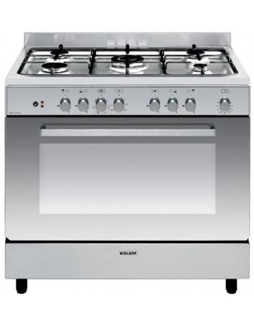 Piano de cuisson mixte 104l 5 feux inox