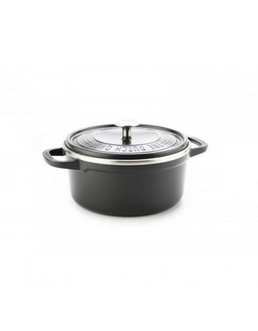 Cocotte ronde en fonte d'aluminium 28cm gris