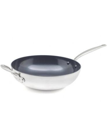 Poêle wok inox 30cm
