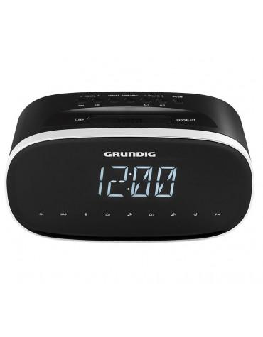 Radio-réveil double alarme noir + usb + bluetooth