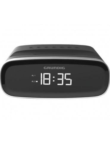 Radio-réveil double alarme noir + usb