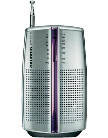 grundig Radio portable analogique rose/argent grundig