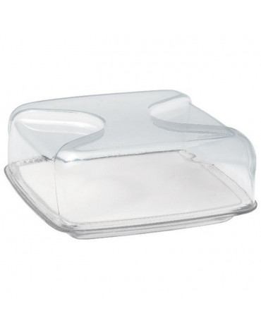 Cloche à fromage carrée 25.5cm transparent