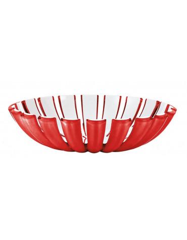 guzzini Corbeille/saladier acrylique 25cm rouge & blanc. guzzini