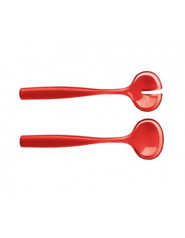 guzzini Cuillères à salade grace 28 cm rouge guzzini