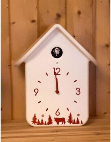 Horloge à coucou 30cm blanc