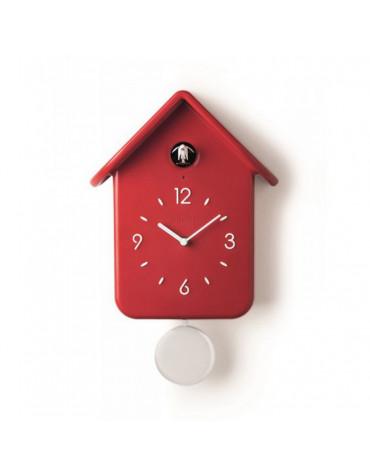 Horloge à coucou 30cm rouge