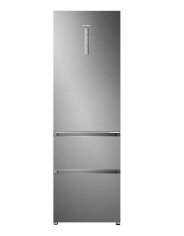 haier Réfrigérateur combiné 60cm 330l a+ no frost silver haier