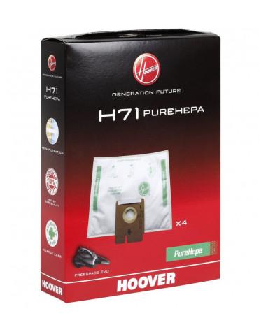 hoover Lot de 4 sacs pour aspirateur freespace evo hoover