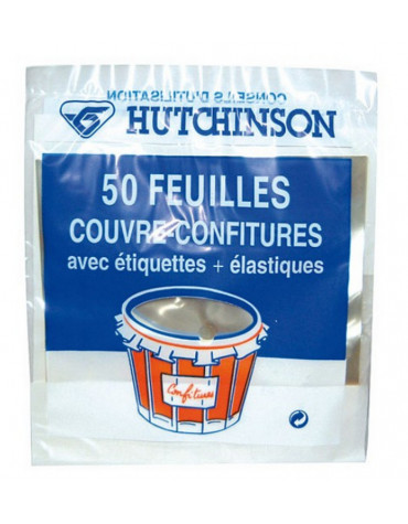 hutchinson Lot de 50 couvre confitures hutchinson