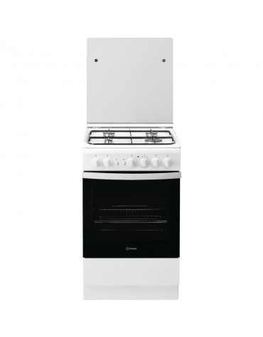 Cuisinière gaz 59l 4 feux blanc