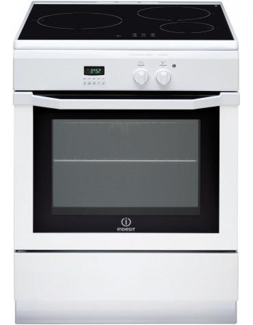 Cuisinière induction 59l 3 feux blanc