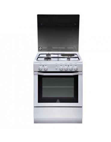 Cuisinière mixte a 63l 4 feux blanc