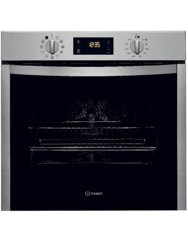 indesit Four intégrable 71l 60cm a+ pyrolyse inox indesit