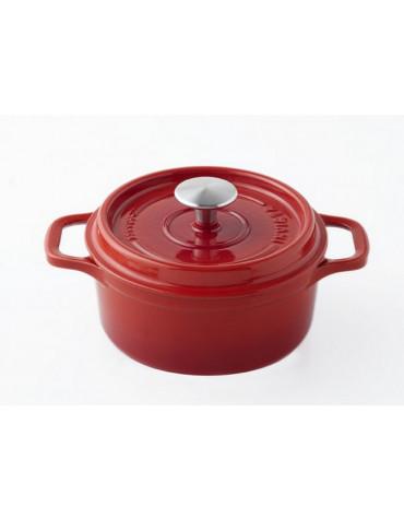 Cocotte ronde en fonte émaillée 24cm rubis