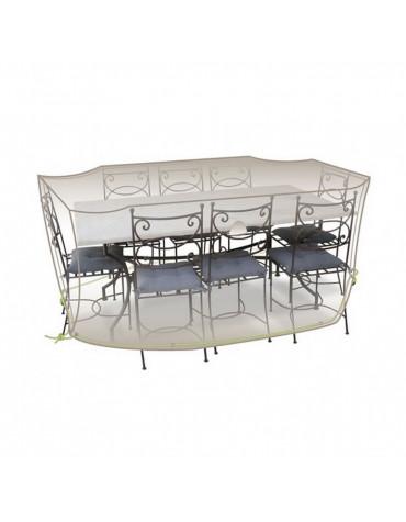 jardiline Housse de table rectangulaire et chaises jardiline