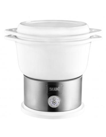 Cuiseur vapeur 4.5l 700w avec bol céramique blanc