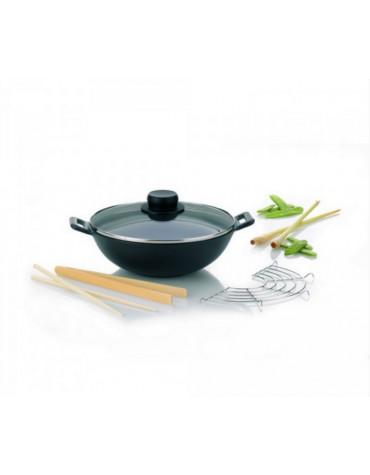 kela line Mini wok en fonte 24cm + 4 accessoires kela line