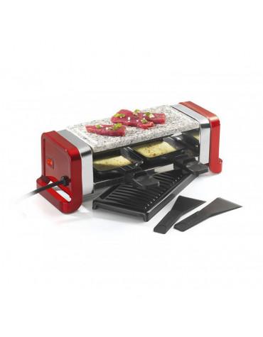 kitchen chef Appareil à raclette 2 personnes 350w rouge kitchen chef