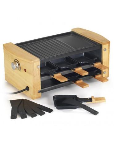 Appareil à raclette 6 personnes 900w + grill