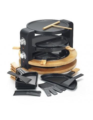 Appareil à raclette 8/10 personnes 1500w + grill + crêpière