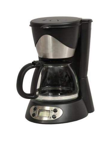Cafetière programmable 6 tasses 550w noir/inox