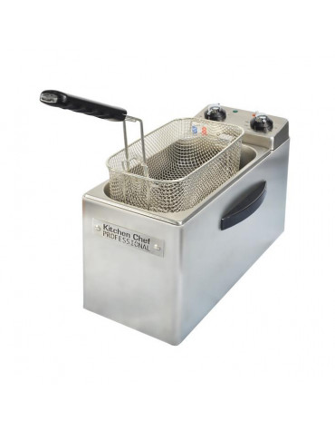 kitchen chef Friteuse professionnelle 4l 2500w inox kitchen chef