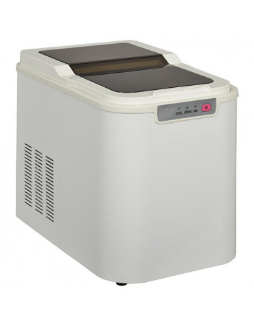 Machine à glaçons 140w 12kg/24h avec nettoyage automatique blanc
