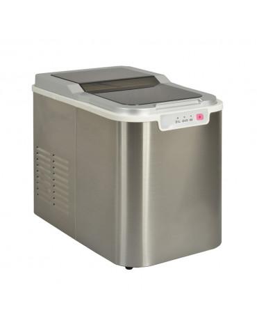 Machine à glaçons 140w 12kg/24h avec nettoyage automatique inox