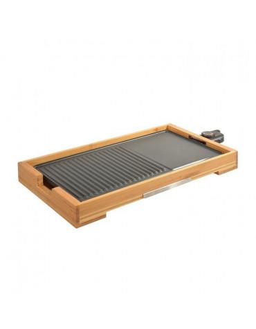 Plancha gril électrique 2000w 51x25,5cm