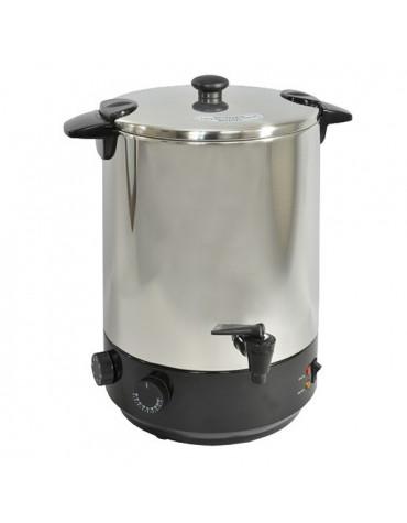 kitchen chef Stérilisateur électrique inox avec robinet et minuteur 19l 1650w kitchen chef
