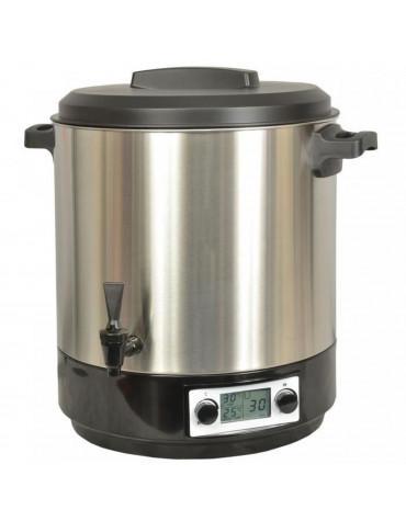 kitchen chef Stérilisateur électrique lcd avec robinet et minuteur 31l 2000w inox kitchen chef