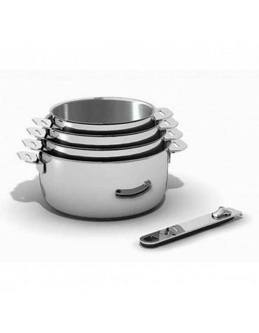 kitchen fun Série de 4 casseroles inox 14/16/18/20cm kitchen fun