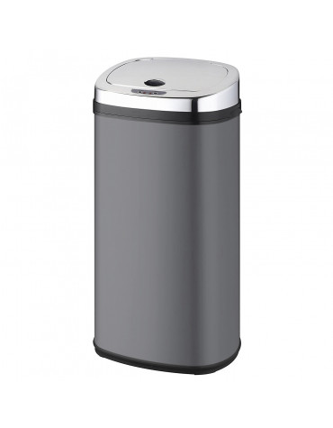 kitchen move poubelle automatique 42l gris/inox bat-42ls02a grey ss