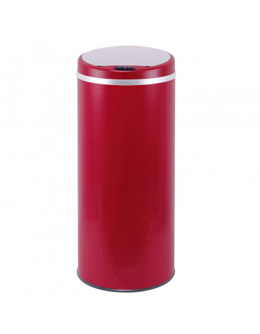 kitchen move poubelle automatique 42l rouge mat bat-42li red