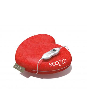 Oreiller chauffant fomre coeur 100w rouge