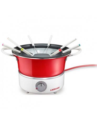 lagrange Fondue 900w 8 fourchettes rouge lagrange