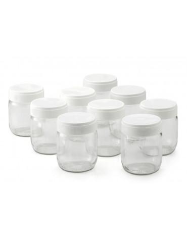 lagrange Lot de 9 pots en verre pour yaourtière lagrange