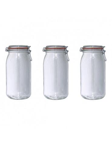 le parfait Lot de 3 bocaux en verre 3l le parfait
