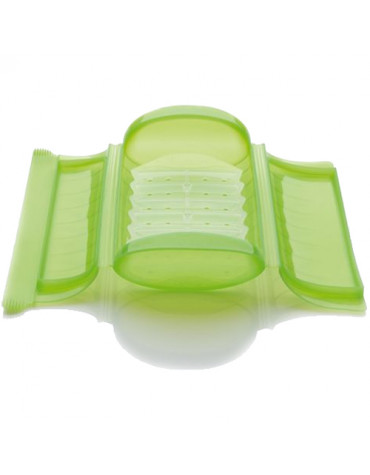 lekue Papillote silicone coffret vapeur 24x12,4cm vert lekue