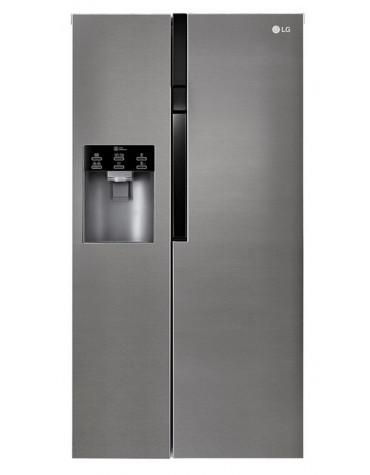 lg Réfrigérateur américain 91cm 591l a+ nofrost graphite lg