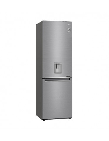 Réfrigérateur combiné 60cm 336l a++ no frost inox