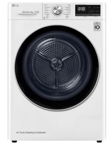 Sèche-linge frontal à pompe à chaleur 60cm 9kg a+++ blanc