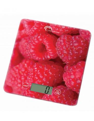 Balance de cuisine electronique 5kg-1g rouge
