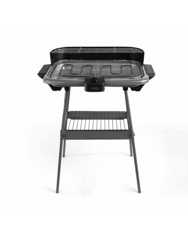 livoo Barbecue électrique sur pieds 2000w gris livoo